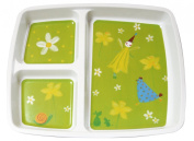 Plastorex 80 8100 51 Food Dish Melamine with 3 Compartments Fairy Design White