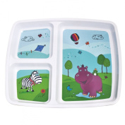 Plastorex 80 8100 HI Food Dish Melamine with 3 Compartments