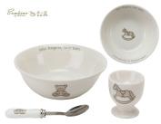 Bambino Baby Christening Gifts. Ceramic Three Piece Breakfast Set