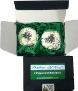 Fentons of Kent Handmade Peppermint Natural Bath Melts made using peppermint essential oil, Box of 2
