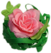 Jasmine Scented Pink Bath Rose Soap in Presentation Box
