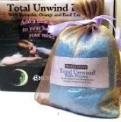 Dead Sea Salts - Total Unwind Bath Potion with Lavender, Orange & Sweet Basil. Add a little aromatic magic to your bath and enchant your mind & body with these heavenly fragrances 200g