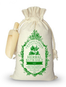 Herbal Bath Salt with Mint 800g - Recommended for Perspiration Effect, Antiseptic, Refreshing, Cooling, Respiratory system diseases, Gall and Kidney Stones - 100% Natural - Special herbal bath salt ideal for relaxing and maintaining our he ..