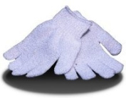 1 x pair spa/salon body exfoliating gloves