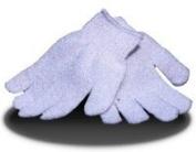 1 x pair spa/salon body exfoliating gloves