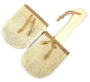 Loofah Savannah Bath Brush with Extra Loofah Replacement Pad