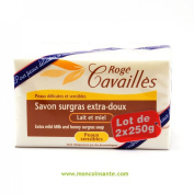 Roge Cavailles Extra-Mild Superfatted Soap Milk and Honey 2 x 250g