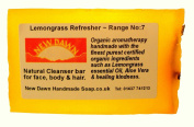 Handmade Natural Lemongrass Soap Bar - Range No.7 - Rosacea / Thread and Spider Veins Calming, Acne / Large Open Pore Relief - 35g - Sample / Travel Size