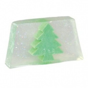 Glittery Christmas Tree Snowmusk Glycerin Soap Slice - Bath Bubble & Beyond 100g