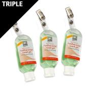 Reynard Antibacterial Hand Gel Bottle with clip - 50ml - Triple Pack