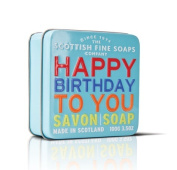 "SOAP in a tin of Scottish fine soaps - ""Happy Birthday"" 100 g"