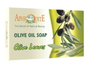 Aphrodite Olive Oil Soap with Exfoliating Olive Leaves 100g