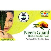 3 x Goodcare Neem Guard Calming Soap (Azadirachta) Herbal Soap for Fatigue Tension & Stress Safe, Natural & Effective *Ship from UK