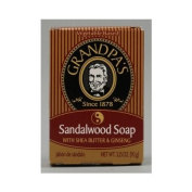 Grandpa's Brands Company Sandalwood Soap with Shea Butter and Ginseng, Shea Butter and Ginseng 100ml