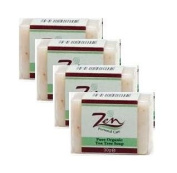 Zen Personal Care Tea Tree Facial Organic Soap 30gms ea Packof 4