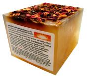 Handmade Natural Rose Geranium Soap Loaf - Range No.2 - Acne, Eczema, Psoriasis, Itchy Skin, PMT and Hormone Imbalance Relief - 400g Money Saver Loaf