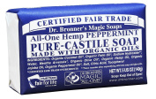 Dr. Bronner's Magic Soaps Pure-Castile Soap , All-One Hemp Peppermint , 150ml Bars
