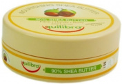 3x Equilibra Nourishing 90% Shea Butter for Face, Hands & Body 100ml
