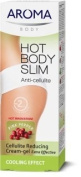 Hot Body Slim Anti Cellulite - Cellulite Reducing Cream-Gel Extra Effective Cooling Effect with Pink Pepperslim TM, Caffeine, Extracts of Ivy and Horse Chestnut Extract