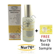 Nur76 Body Lotion : Skin Lightening 125ml + FREE Nur76 Skin Lightening Soap sample