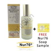 Nur76 Body Lotion : Skin Lightening 125ml + FREE Nur76 Skin Lightening Soap sample