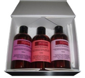 3 Sensual & Erotic Massage Oil Gift Set (3 x 125ml) Lovers (Orange, Ylang Ylang & Black Pepper), Romance (Orange, Geranium & Ylang Ylang), Ylang & Patchouli Boxed in Luxury White Gift Box Ideal for Couples, Valentines or Hen Night Gift ..
