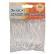 Ardisle 50 Plastic Dental Floss Toothpicks Tooth Picks Disposable Flossers Cleaner Clean