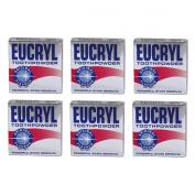 6 x Eucryl Smokers Tooth Powder Original 50g