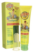 Earth's Best, Toothpaste, Free Gum Brush, Strawberry and Banana, 45ml