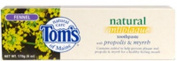 Tom's of Maine, Fluoride-Free Propolis & Myrrh Toothpaste, Spearmint, 160ml