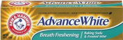 Arm & Hammer Advance White Mint Fluoride Toothpaste, Brilliant Sparkle, Tartar Control, 130ml Tubes