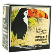 Light Mountain, Natural Hair Colour & Conditioner, Black, 120ml