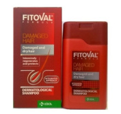 Fitoval Dermatological Shampoo for Damaged and Dry Hair - Natural Herbal Products with Extracts of Nettle, Extracts of Salvia, D-Panthenol, Lecithin and Wheat Protein 100ml