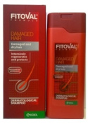 Fitoval Dermatological Shampoo for Damaged and Dry Hair - Natural Herbal Products with Extracts of Nettle, Extracts of Salvia, D-Panthenol, Lecithin and Wheat Protein 200ml