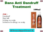 Dano Anti Dandruff Treatment For Itchy Flaky Scalp Hair fall Irritation Allergy on Scalp *Ship from UK