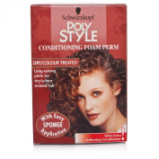 3 x Schwarzkopf Poly Style Conditioning Foam Perm - Dry/Colour Treated