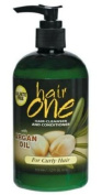 ARGAN OIL HAIR CLEANSER/HAIR CONDITIONER FOR CURLY HAIR 355ml **sulphate FREE**