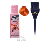 Crazy Colour Semi-permanent Hair Colours- 1 x Bottle of crazy colours with Q7S TM Tint Brush