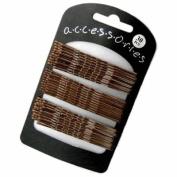 Pack of 30 Brown Hair Grips/Pins
