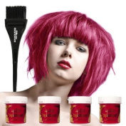 La Riche Directions 4 Pack Of Semi Permanent Hair Dye / Hair Colour (4 x 88ml) - Carnation