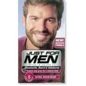 THREE PACKS of Just For Men Beard/Moustache/Sideburns Med Brown M-35