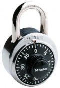Master Lock #1500D Dial Combination Lock, 4.8cm Black