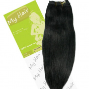My Hair 36cm Colour 1 Euro Weft Hair Extensions