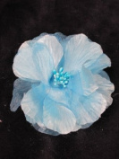 Pretty Cool - Blue Fabric Hair Flower and Brooch