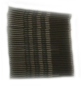 Card of 36 Dark Brown Kirby Hair Grips.Brand New. 4.5cm length