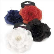 H20347 Spectator Black Fabric Flower Hair Clip Accessory