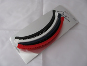 Useful Pack Of 4 Snap end banana Clips In black,red, navy Blue and White ,16cm in length .BNWT.Useful For Lots of hairstyles ,Drawing hair back off face etc .