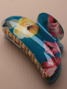9729 9cm Turquoise Floral Acrylic clamp. Hair Clip Accessory Wedding Party Prom