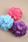 Blue Carnation Flower Brooch/Beak Clip IN9089