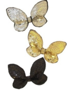 Black Sequin Butterfly Beak Clip IN9276